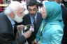 Maryam Rajavi with Father Henri - Auver