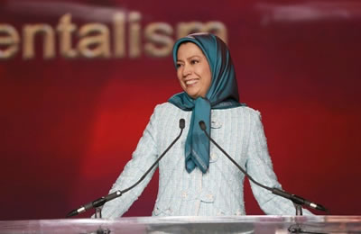 Maryam Rajavi at the Pledge for Parity